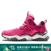 RAX 新品秋冬徒步鞋男 防滑女爬山鞋保暖旅游鞋运动户外鞋 玫红女 39