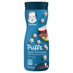 Gerber 嘉宝  婴幼儿星星泡芙三段 苹果肉桂味(8个月以上)42g/罐   *7件