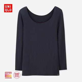 女装 HEATTECH EXTRA WARM U领T恤(八分袖)(温暖内衣) 408241