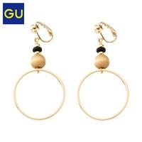 GU 极优 313758 女式金属圆环装饰耳饰气质耳环