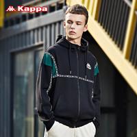 Kappa卡帕男款运动卫衣串标加厚休闲长袖开衫帽衫外套新 *3件