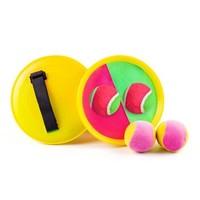 贝沁 粘粘抛接球玩具 2拍+2软球