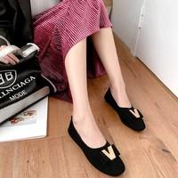 卫妃  W60-9  女子软底蝴蝶结豆豆鞋