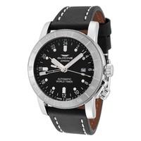 GLYCINE 冠星 Airman GL0056 男士两地时机械腕表