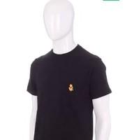 UNIQLO 優衣庫 中性純色印花短袖T恤 427911 黑色 XS