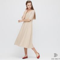 UNIQLO 優衣庫 422527 3D全棉喇叭連衣裙