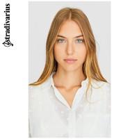 Stradivarius 波点印花长袖薄透衬衫衬衣女2020春新款06083592004