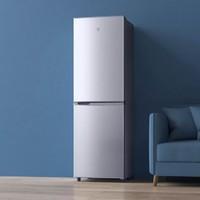 米家 两门小冰箱 160L 银色
