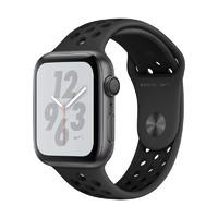 苹果Apple Watch Series 4智能手表 GPS款 深空灰铝金属表壳搭配黑色 NIKE+ 44mm MU6L2ZP/A