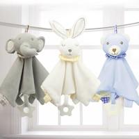 婴幼儿毛绒安抚巾bb布偶棒套装 可入口宝宝睡眠手偶玩具