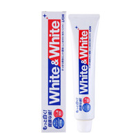 日本LION狮王进口美白牙膏  white特效去渍牙膏150g *2件