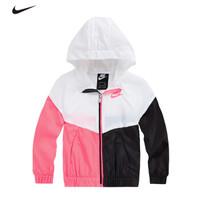 耐克Nike 女中小儿童梭织连帽皮肤衣夹克风衣