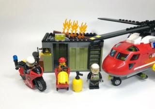 乐高城市组消防直升机组合