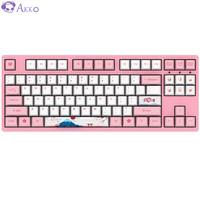 AKKO 3087 机械键盘 世界巡回东京樱花键盘  87键   粉色 粉轴 自营