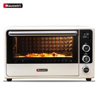 海氏(Hauswirt)家用多功能电烤箱 32升搪瓷内胆 电子式独立控温专业烘焙 F1