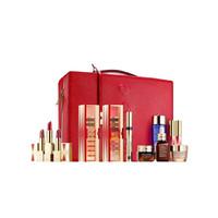 雅诗兰黛限量套装礼盒彩妆护肤套装12件装 包含小棕瓶精华,眼霜,面霜,卸妆水,唇膏等