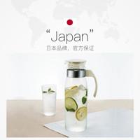 HARIO日本冷水壶 耐热玻璃大容量家用果汁凉热水壶RP *4件