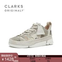 clarks其乐女鞋2020春夏新款Trigenic Flex.英伦三瓣运动休闲单鞋 水墨色261502004 36
