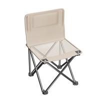 威野营(V-CAMP)户外折叠椅 便携式折叠椅子 简易钓鱼椅 靠背椅 写生椅 休闲马扎 小凳子(亚麻黄)