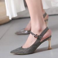 soofylia 姝菲 S8BL011NDRYS 女士高跟凉鞋