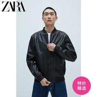 ZARA 新款 男装 仿皮飞行员夹克外套 03918400800