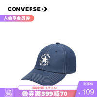 CONVERSE匡威官方 RENEW 时尚棒球帽 10018574 暗夜蓝/10018574-A02