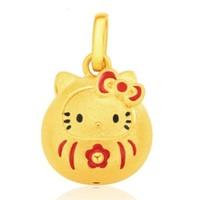 周大福 R24925 hello kitty凯蒂猫系列 足金黄金吊坠