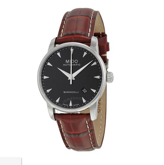 MIDO 美度  Black Dial Men's Watch M86004188 男士机械表