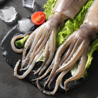 初鲜 冷冻阿根廷整条大鱿鱼  600-650g 两条 袋装 烧烤火锅食材 海鲜水产