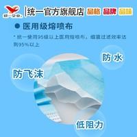 统一企业出品一次性口罩三层防护熔喷布过滤细菌飞沫粉尘10片装 *2件