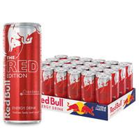 红牛含气维生素功能饮料 蔓越莓风味250ml*24罐 整箱装 *3件