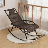 摇摇椅午睡床 现代简约环保仿藤休闲椅躺椅B78(2-3天左右发货)(咖啡色圆线 散装发货)