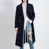 MO&Co. 摩安珂 MK173OVC202B87 女士A字型毛呢大衣