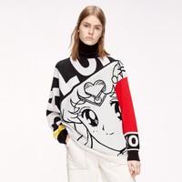 MO&Co. 摩安珂 美少女合作系列 MAI4SWTT31 图案针织衫