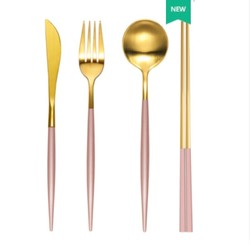 JUJU 金色西餐刀叉两件套
