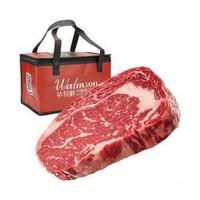 华牧鲜 安格斯牛肉厚切 AAA级牛排 8片装 1.6kg