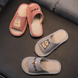 nglg 儿童亚麻防滑拖鞋