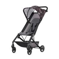 gb好孩子 婴儿推车 婴儿车 轻便折叠易携带 车轮避震可登机 黑粉色 D328-S335BP