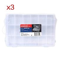 【组合装】万克宝_11.5寸透明零件盒/[3个]