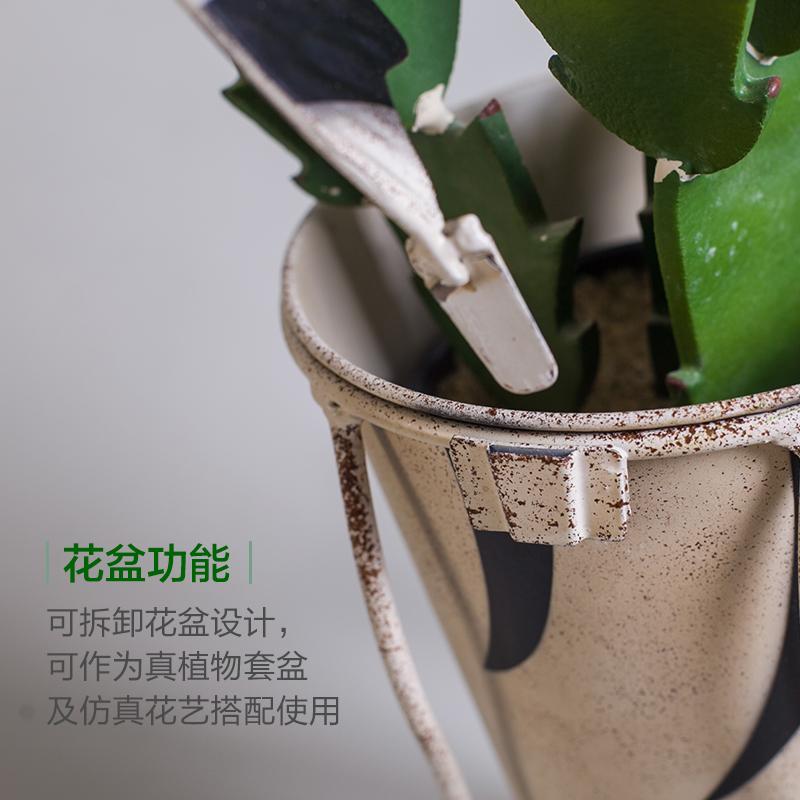 美式轻复古铁艺动物落地花盆花器创意阳台户外花园幼儿园花瓶摆件