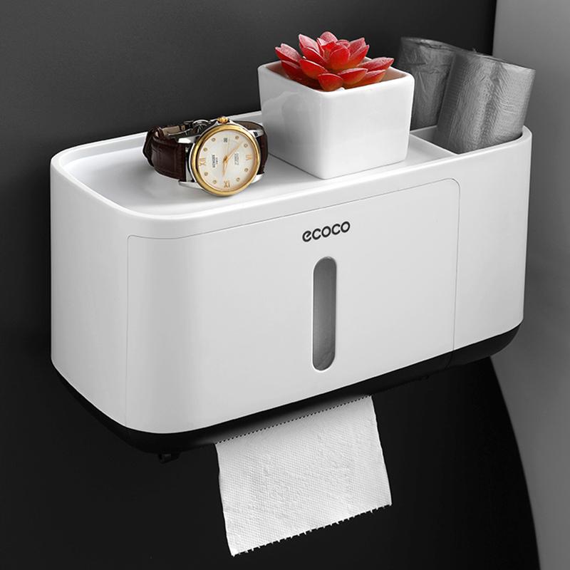 卫生间纸巾盒厕所卫生纸置物架创意抽纸盒厕纸盒免打孔防水卷纸筒