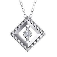 钻石世家 爱随心动系列 18K金钻石项链