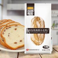 五味良仓陈克明高筋面粉 2500g原味烘焙原料家用免邮烤箱面包机用