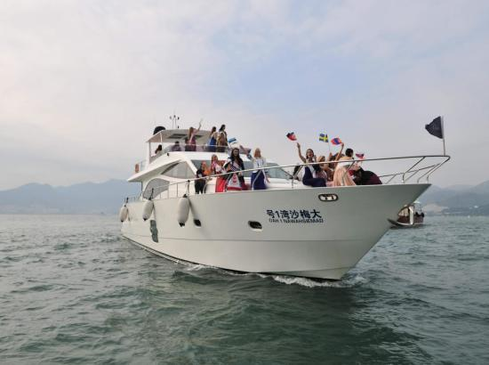 周末、节假日不加价!深圳大梅沙湾游艇度假酒店 豪华海景房1晚(含早餐)+35英尺游艇出海 一次