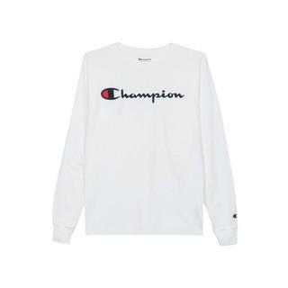 YOUPIN 小米有品 Champion 草写logo圆领长袖T恤 白色M