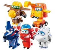AULDEY 奥迪双钻 超级飞侠玩具 迷你变形玩具礼盒 新角色五只装 *2件 +凑单品