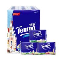 Tempo/得宝手帕纸 迷你印花 4层7张*36包(欧式印花图案) 纸手帕餐巾纸小包纸巾 *4件