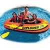 INTEX 58332探险者三人充气船 钓鱼船橡皮艇皮划艇儿童玩具 送船浆打气泵211*117*41cm+凑单品