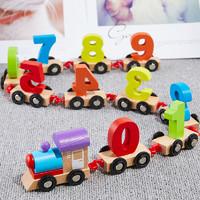 达拉 儿童木制数字小火车积木