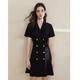 FANSILANEN Z90148 西装领连衣裙 129元包邮(需用券)